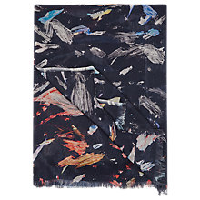 Buy Reiss Lupo Printed Scarf, Indigo/Multi Online at johnlewis.com