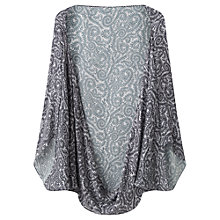 Buy Jigsaw Swirl Print Silk Cape, Silver Online at johnlewis.com