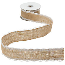 Buy John Lewis Jute Lace Bridal Ribbon, 5m, Brown Online at johnlewis.com