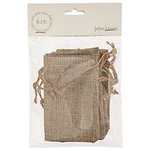 Buy John Lewis DIY Bridal Jute Bag, Pack of 5 Online at johnlewis.com
