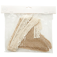 Buy John Lewis Bridal Craft Hessian Bunting, 3m, Natural/Ivory Online at johnlewis.com
