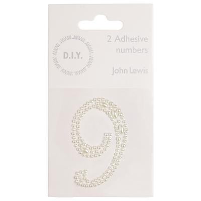 John Lewis Self Adhesive Pearl Number 9, Pack of 2