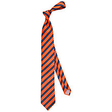 Buy Thomas Pink Ford Stripe Tie, Orange/Navy Online at johnlewis.com