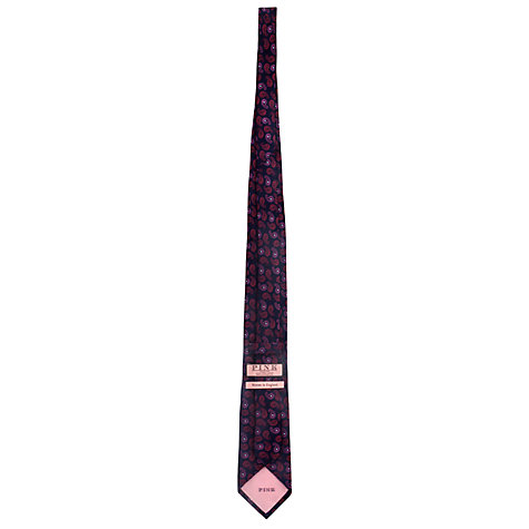 Buy Thomas Pink Morris Paisley Woven Silk Tie, Navy/Red Online at johnlewis.com