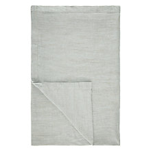 Buy John Lewis Herringbone Linen Throw, Peppermint Online at johnlewis.com