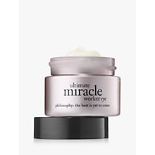 Buy Philosophy Ultimate Miracle Worker Eye Cream SPF 15, 15ml Online at johnlewis.com