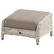 Buy 4 Seasons Outdoor Brighton Footstool with Cushion Online at johnlewis.com