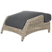 Buy 4 Seasons Outdoor Valentine Footstool with Cushion, Pure Online at johnlewis.com