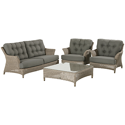 4 Seasons Outdoor Valentine 2.5-Seater Bench with Cushions