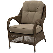 Buy 4 Seasons Outdoor Sussex High Back Armchair, Brown Online at johnlewis.com