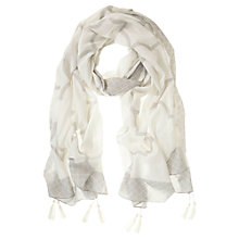 Buy Mint Velvet Faye Print Scarf, Ivory/Dove Online at johnlewis.com