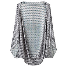 Buy Jigsaw Silk Oval Geometric Cape, Navy Online at johnlewis.com