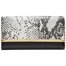 Buy Ted Baker Jerry Snake Print Mantinée Purse, Grey/Black Online at johnlewis.com
