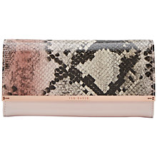 Buy Ted Baker Montrel Leather Snake Print Matinée Purse Online at johnlewis.com