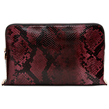 Buy Ted Baker Orsino Washbag, Deep Purple Online at johnlewis.com