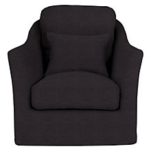 Buy John Lewis Highlands Loose Fabric Armchair, Linamore Charcoal Online at johnlewis.com