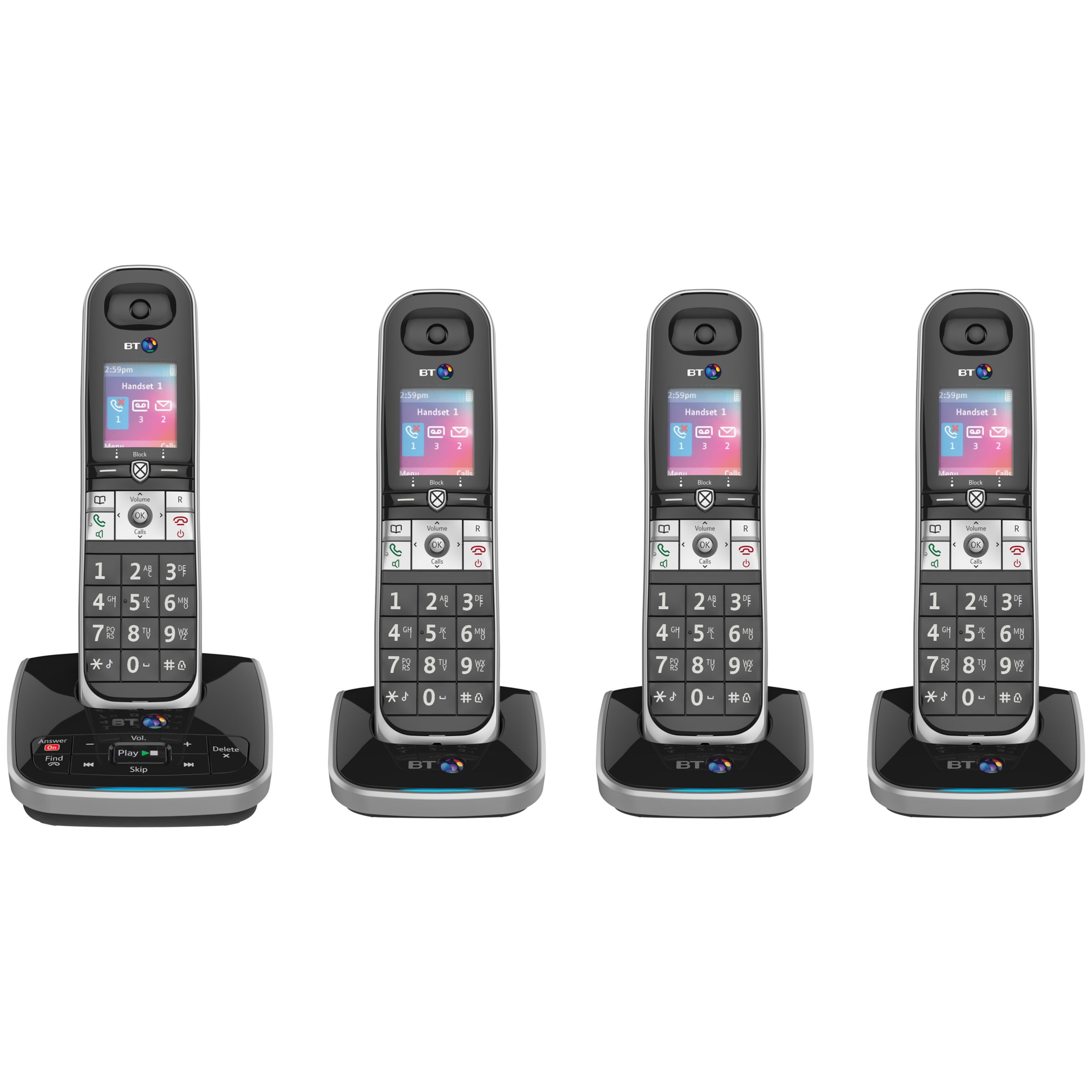 BT BT 8610 Digital Cordless Phone With Advanced Call Blocking & Answering Machine, Quad DECT
