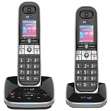 Buy BT 8610 Digital Cordless Phone With Advanced Call Blocking & Answering Machine, Twin DECT Online at johnlewis.com