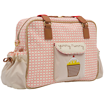 Pink Lining Yummy Mummy Red Hearts Print Changing Bag Multi