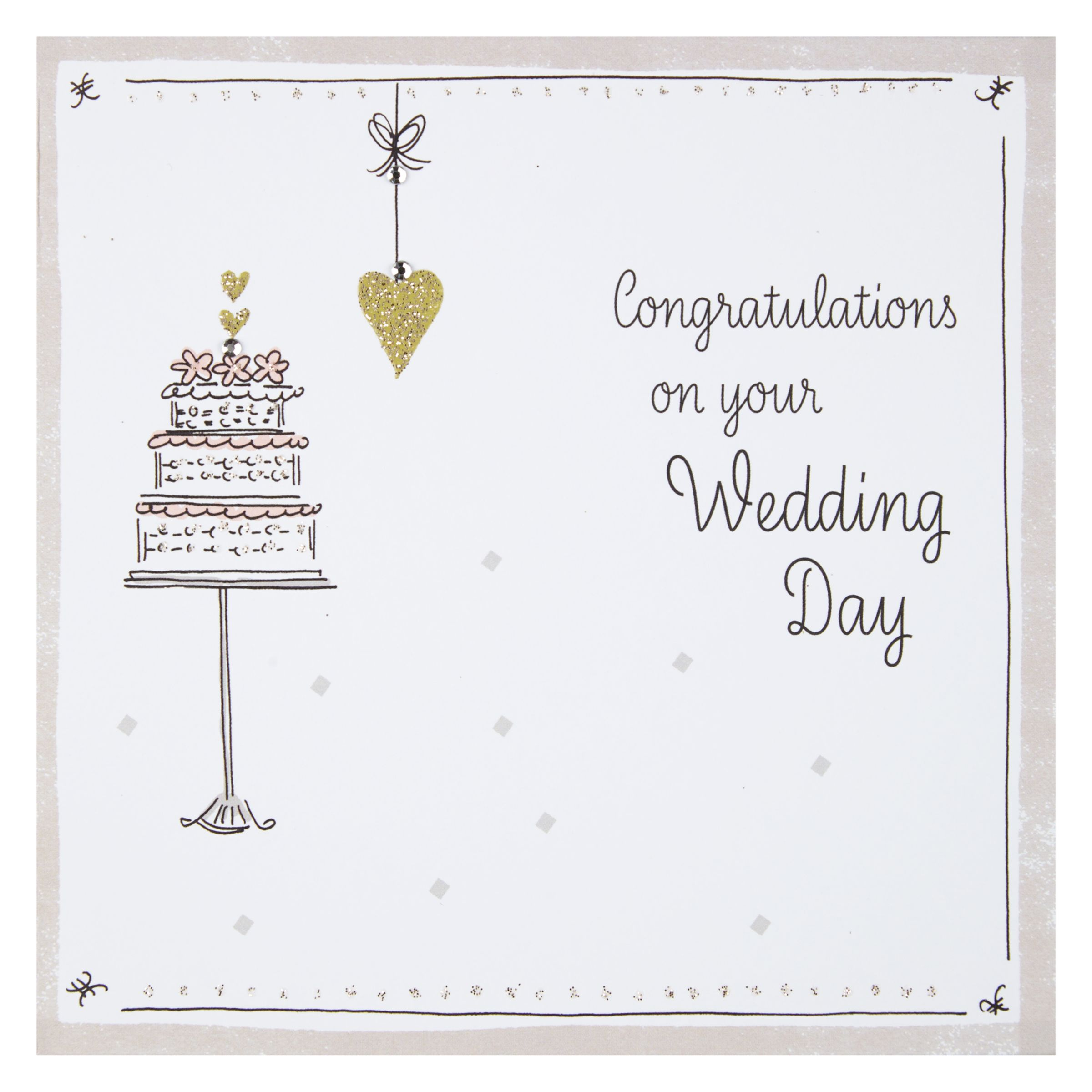 Wedding Gift List Wording John Lewis : ... Cards and Gifts Congratulations On Your Wedding Day Card John Lewis