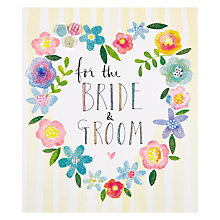 Buy Rachel Ellen Heart Of Flowers Bride & Groom Card Online at johnlewis.com