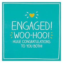 Buy Pigment Engaged! Woo-Hoo! Engagement Card Online at johnlewis.com