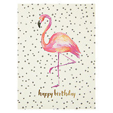 Buy Portico Flamingo Birthday Card Online at johnlewis.com