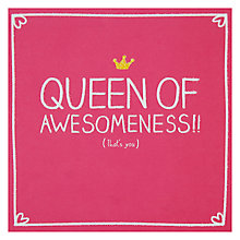 Buy Pigment Queen Of Awesomeness Card Online at johnlewis.com