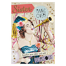 Buy Pigment Sister Panic Over Birthday Card Online at johnlewis.com