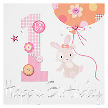 Buy Paperlink 1st Birthday Card Online at johnlewis.com