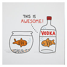 Buy Ohh Deer Vodka Goldfish Card Online at johnlewis.com