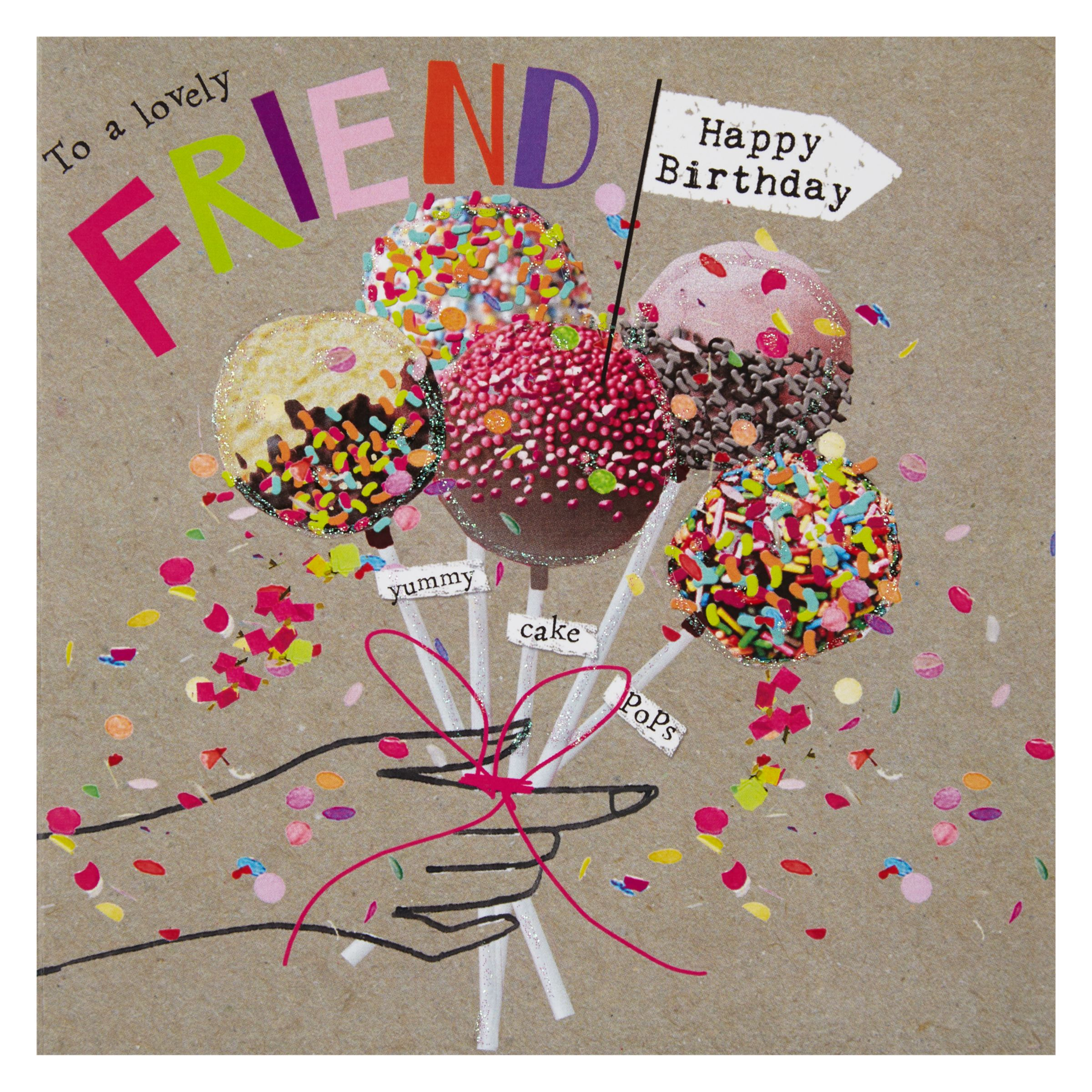 Buy Hammond Gower Yummy Cake Pops Birthday Card John Lewis