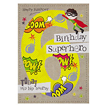 Buy Hammond Gower 6th Birthday Card, Yellow Online at johnlewis.com