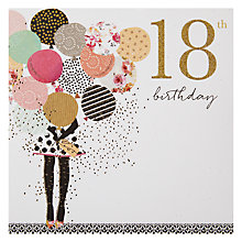 Buy Portfolio Balloons 18th Birthday Card Online at johnlewis.com