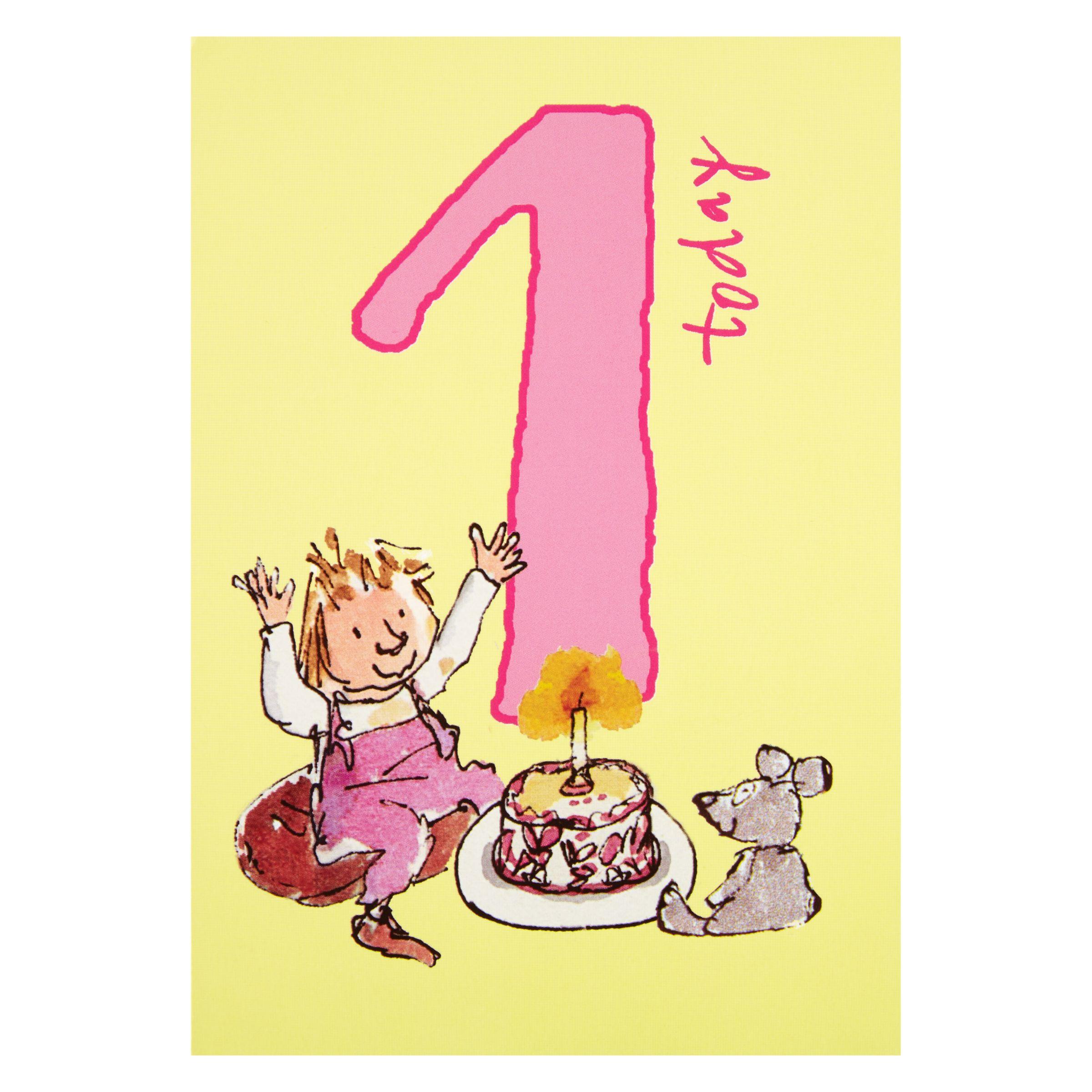 Birthday Cake John Lewis : Buy Woodmansterne Girl With Cake 1st Birthday Card John ...