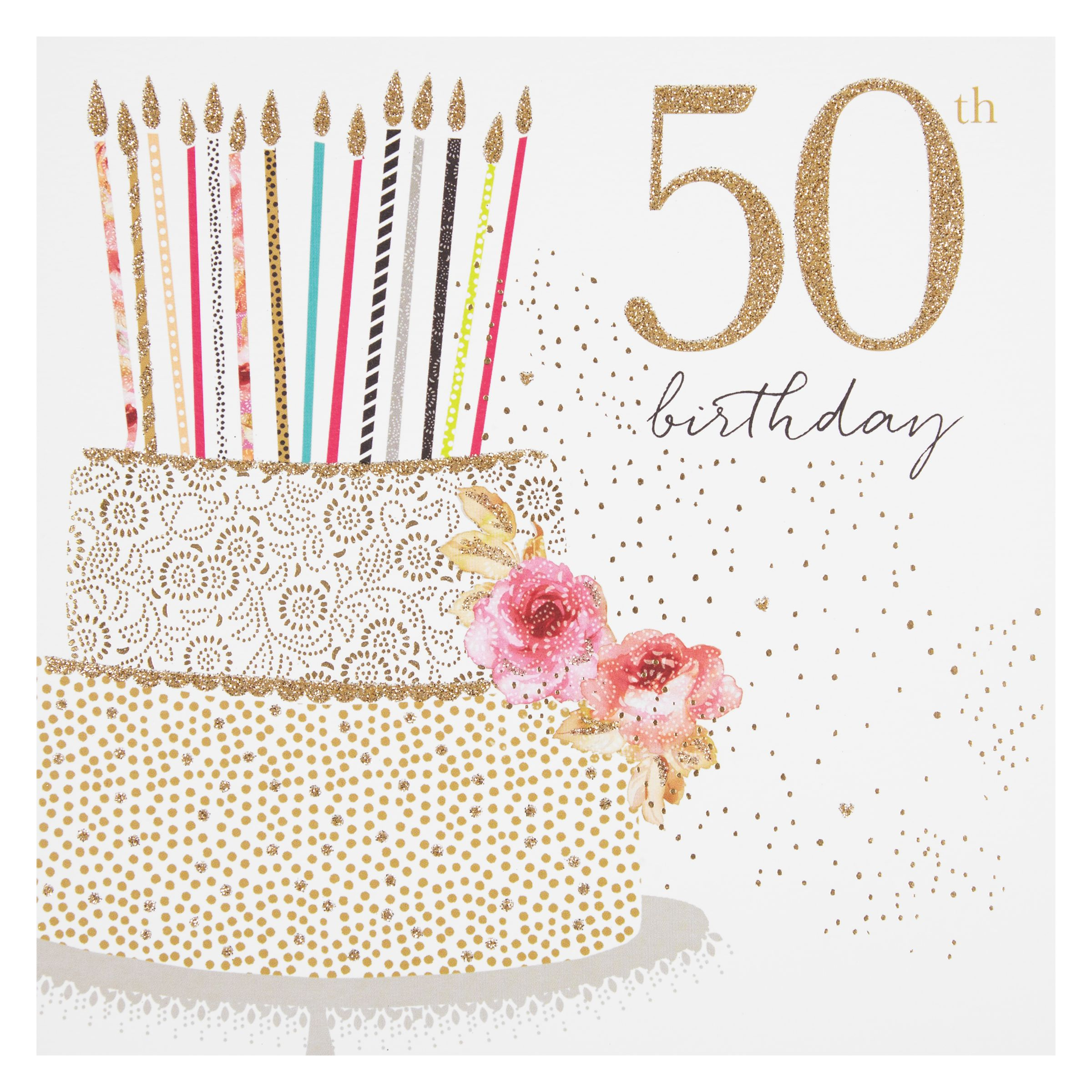Buy Portfolio Cake 50th Birthday Card John Lewis