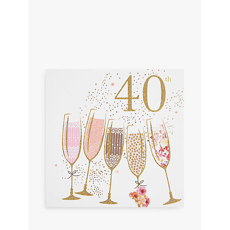 Buy Portfolio Champagne 40th Birthday Card Online at johnlewis.com