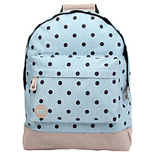Buy Mi-Pac Denim Polka Dot Backpack, Blue/Grey Online at johnlewis.com