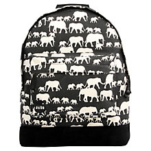 Buy Mi-Pac Elephant Print Backpack, Black Online at johnlewis.com