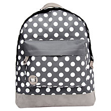 Buy Mi-Pac Polka Dot Backpack, Charcoal/White Online at johnlewis.com