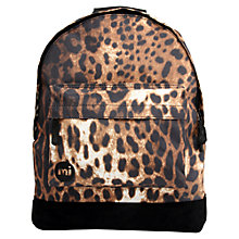 Buy Mi-Pac Jaguar Print Backpack, Black Online at johnlewis.com