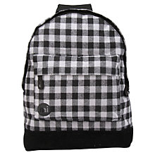 Buy Mi-Pac Gingham Backpack, Grey/Black Online at johnlewis.com