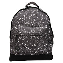 Buy Mi-Pac Splatter Print Backpack, Black/White Online at johnlewis.com
