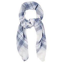Buy Oasis Stephanie Check Scarf, Blue Online at johnlewis.com
