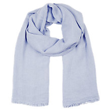 Buy Oasis Textured Scarf, Blue Online at johnlewis.com