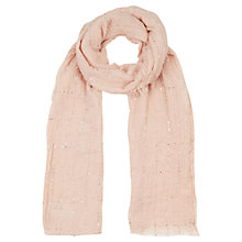 Buy Oasis Sequin Lightweight Scarf, Pink Online at johnlewis.com