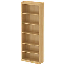 Buy John Lewis Connie Tall Wide Bookcase, Oak Online at johnlewis.com