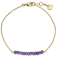 Buy John Lewis Gemstones 18ct Gold Plated Amethyst Bar Bracelet, Gold/Purple Online at johnlewis.com
