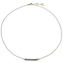 Buy John Lewis Gemstones Rose Gold Plated Labradorite Bar Necklace, Rose Gold Online at johnlewis.com