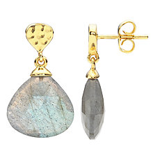 Buy John Lewis Gemstones Gold Plated Labradorite Drop Earrings, Gold Online at johnlewis.com